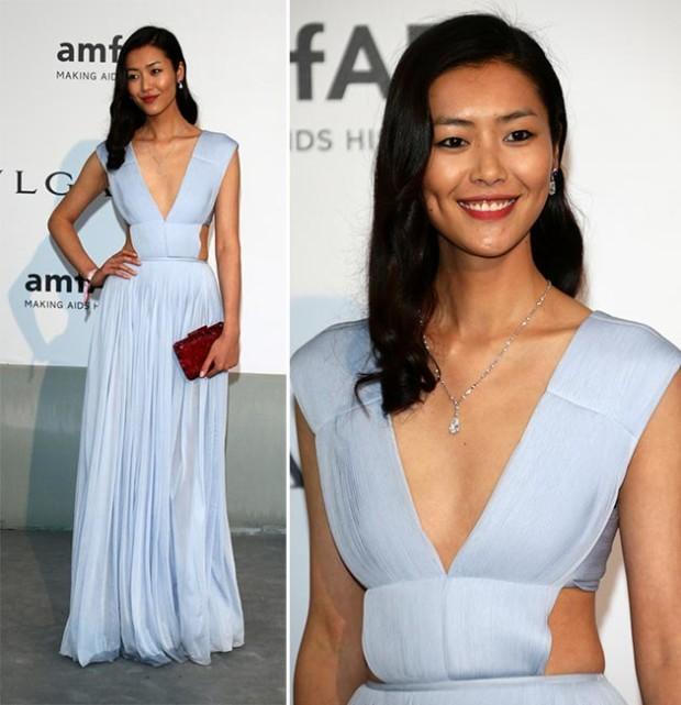 Liu Wen at Cannes 2015 amfAR Gala