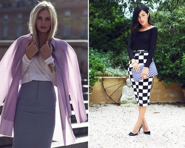 2015 Fashion; How to Wear Pencil Skirt