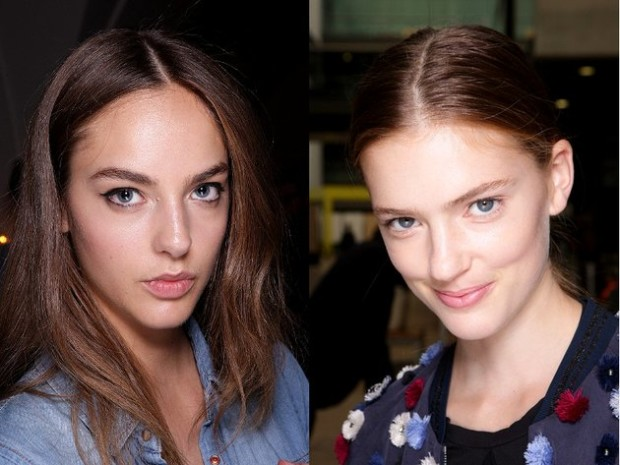 embedded_center_parted_hair_spring_2015_trends_london_fashion_week